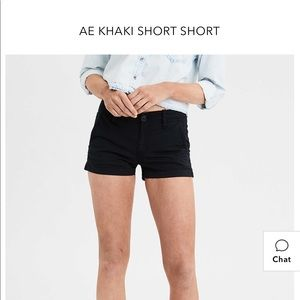 American Eagle Khaki Shortie Super-Stretch shorts